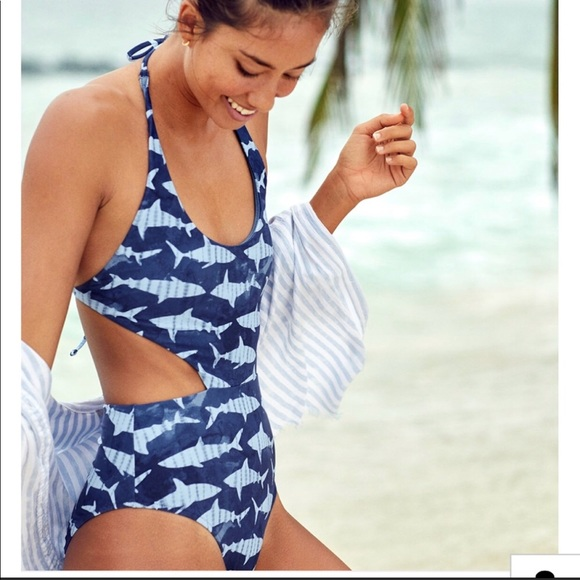 ba87be5788 aerie Other - Aerie One Piece Shark bathing suit